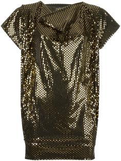 свободная блузка с эффектом металлик Vivienne Westwood Anglomania