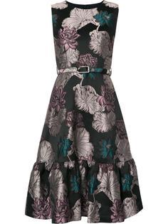 жаккардовое платье с цветочным рисунком Co
