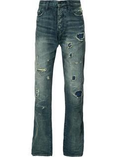 рваные джинсы прямого кроя Prps