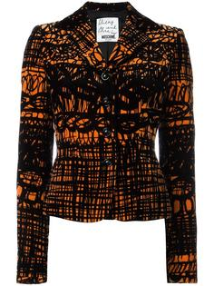 printed velvet jacket Moschino Vintage