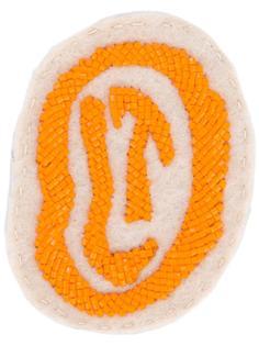 заплатка на липучке с логотипом из бусин Olympia Le-Tan