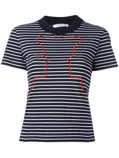 футболка в полоску с вышивкой Vivetta