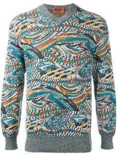 intarsia knit jumper Missoni Vintage