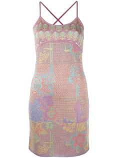 lurex patterned camisole dress Christian Lacroix Vintage