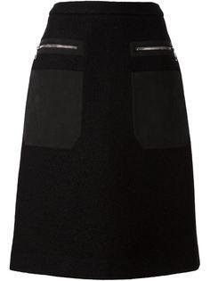 А-образная юбка с накладными карманами Neil Barrett
