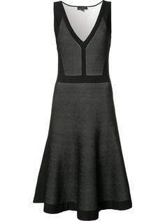 расклешенное платье с плиссированным подолом Narciso Rodriguez