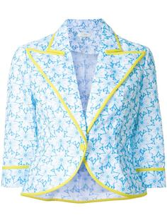 floral print cropped jacket Delpozo