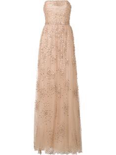 вечернее платье с вышивкой Carolina Herrera