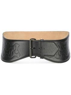high waist embossed belt Alaïa Vintage