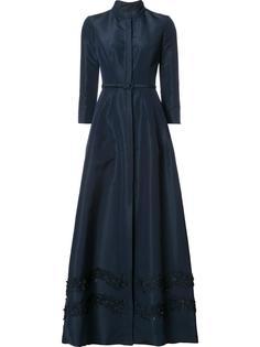 длинное платье с вышивкой 'Faille' Carolina Herrera