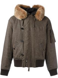 faux fur split hood bomber jacket Jean Paul Gaultier Vintage