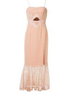 платье с кружевным подолом Jonathan Simkhai
