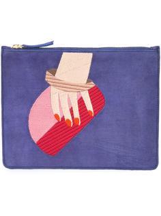 клатч с вышивкой руки Lizzie Fortunato Jewels