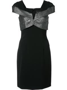 платье с топом цвета металлик Nicole Miller