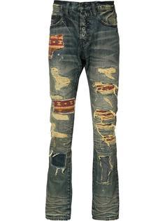 джинсы с потертой отделкой Prps