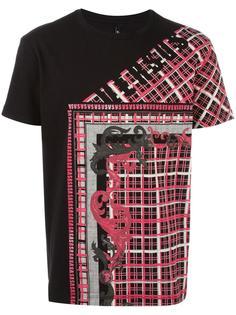 stylised check print T-shirt  Versus