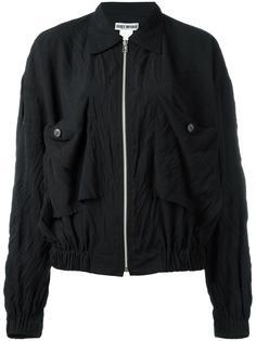 'Crushed' zip front jacket Issey Miyake Vintage