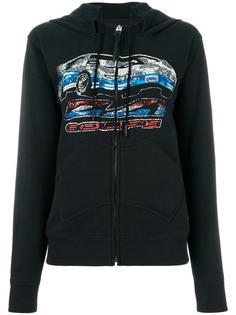 car print zipped hoodie Coach