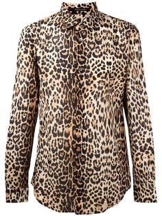 леопардовая рубашка Roberto Cavalli