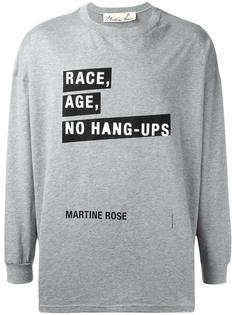 футболка 'Race, Age, No Hang-Ups' Martine Rose