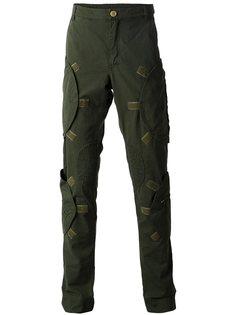 брюки-карго с карманами на молнии  Walter Van Beirendonck