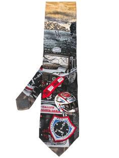 'Paris Dakar' print tie Gianfranco Ferre Vintage