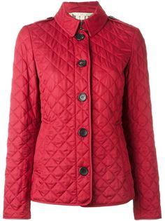 стеганая куртка с клетчатой подкладкой  Burberry