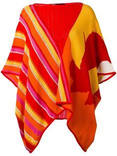 striped patterned poncho Kansai Yamamoto Vintage
