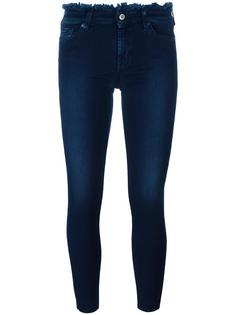 frayed trim skinny jeans 7 For All Mankind