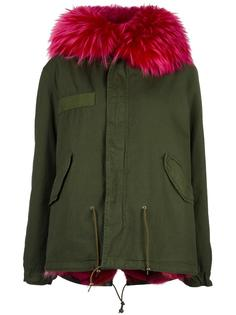 куртка с капюшоном и мехом койота Mr & Mrs Italy