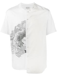 футболка с принтом и панельным дизайном Maison Margiela