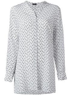 блузка с принтом птиц Joseph