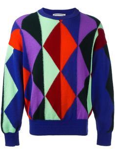 geometric patterned jumper Versace Vintage
