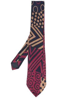 abstract print tie Missoni Vintage