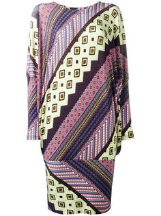 multi print shift dress Issey Miyake