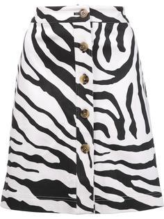 юбка с зебровым принтом Adam Lippes