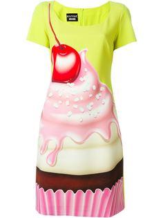 платье с принтом пирожного Boutique Moschino