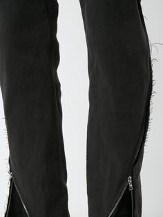 брюки я молниями по бокам Ma+
