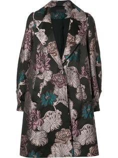 жаккардовое пальто с цветочным рисунком Co