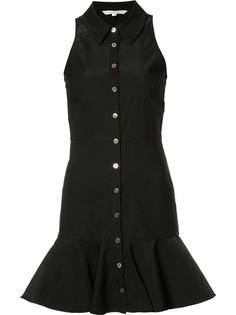 ruffled hem buttoned dress Veronica Beard