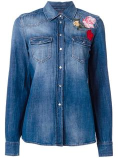 floral embroidery denim shirt 7 For All Mankind