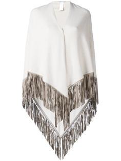 fringed knitted poncho Agnona