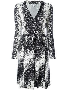 abstract print wrap dress Diane Von Furstenberg