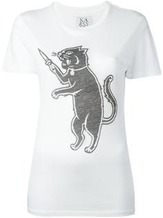 футболка с принтом кота Zoe Karssen