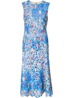 платье с цветочной вышивкой Monique Lhuillier