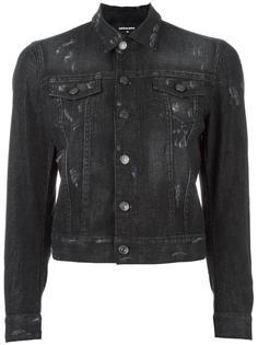 джинсовая куртка с заклепками Dsquared2
