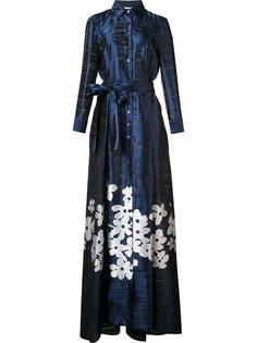 длинное платье с цветочным принтом Carolina Herrera