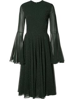 платье с расклешенными рукавами Rosetta Getty