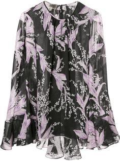 блузка с плиссировкой Giambattista Valli