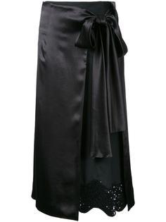 юбка с запахом и пайетками Toga